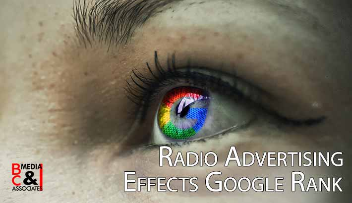 radio advertising effects google ranking